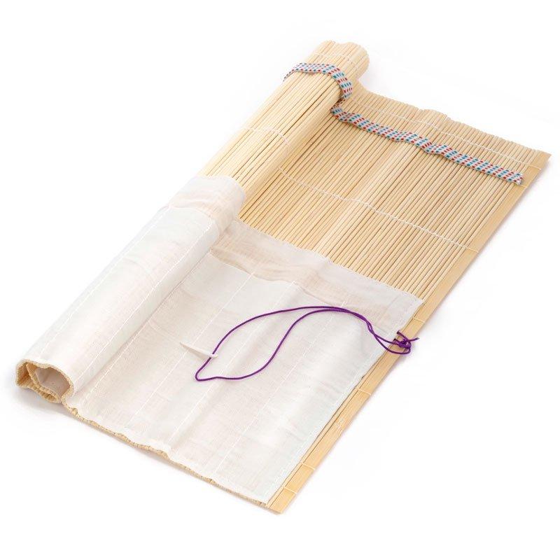 Коврик бамбуковый для кистей 33*33см беж.