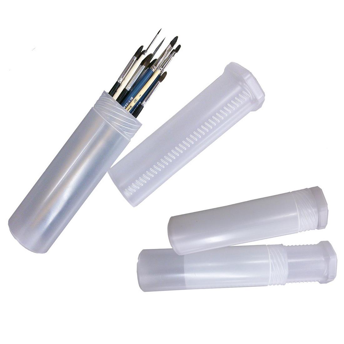 Пенал для кистей телескопический пластик. 21-37см