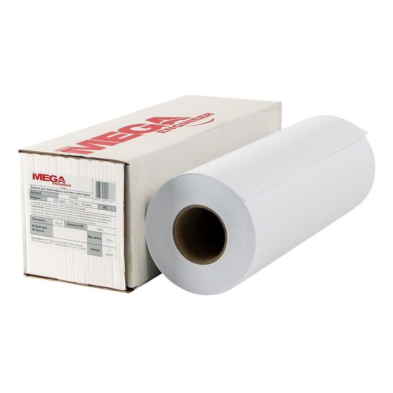 Бумага для рисования рулон 420mmx175m 80 гр