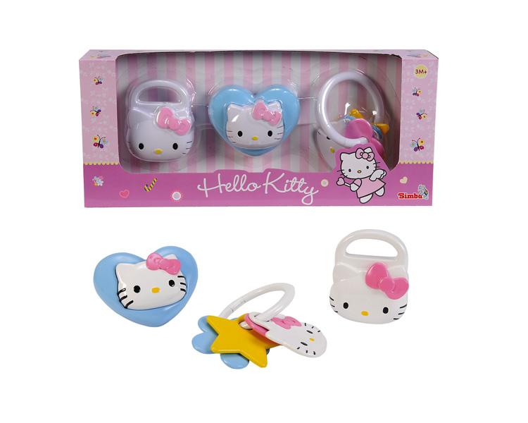 АКЦИЯ19 Игр Погремушка 3шт/уп Hello Kitty