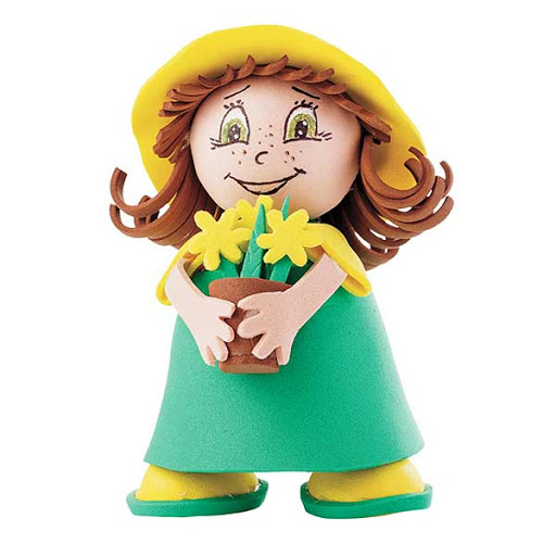 Творч Кукла своими руками фоамиран Девочка в зеленом сарафане