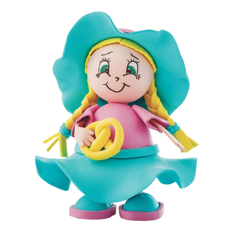 Творч Кукла своими руками фоамиран Девочка с кренделем