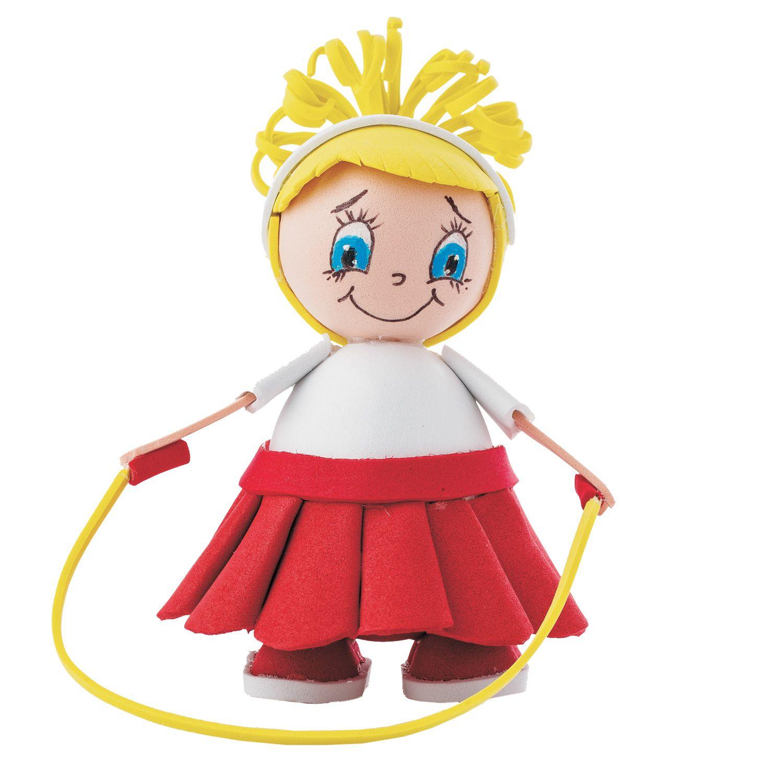 Творч Кукла своими руками фоамиран Девочка со скакалкой