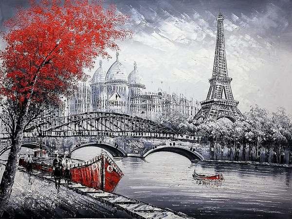 Картина по номерам 40*50 Париж