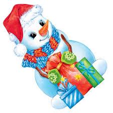 Украшение на двустор. скотче 88.458 Новогоднее! снеговик с мешком