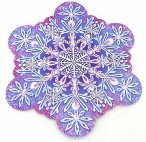 Украшение на двустор. скотче 88.462 Новогоднее! снежинка