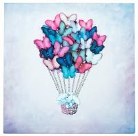 Творч Мозаика из пайеток на холсте 30*30 Воздушный шар