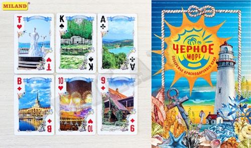 Карты игральные 54шт Черное море