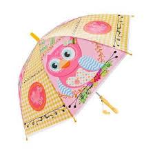 Зонт детский Сова 48см свисток полуавтомат