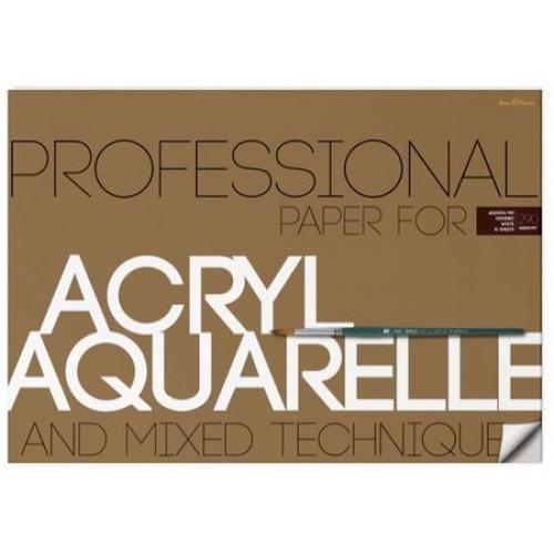 Альбом д/акварели А2 10л Acryl&Aquarelle 290гр. (и акрила)