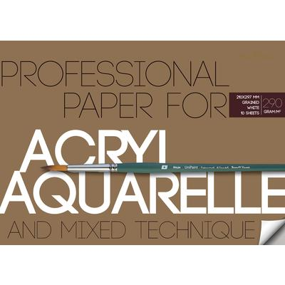 Бумага д/акварели А4 10л Acryl&Aquarelle 290гр. (и акрила)