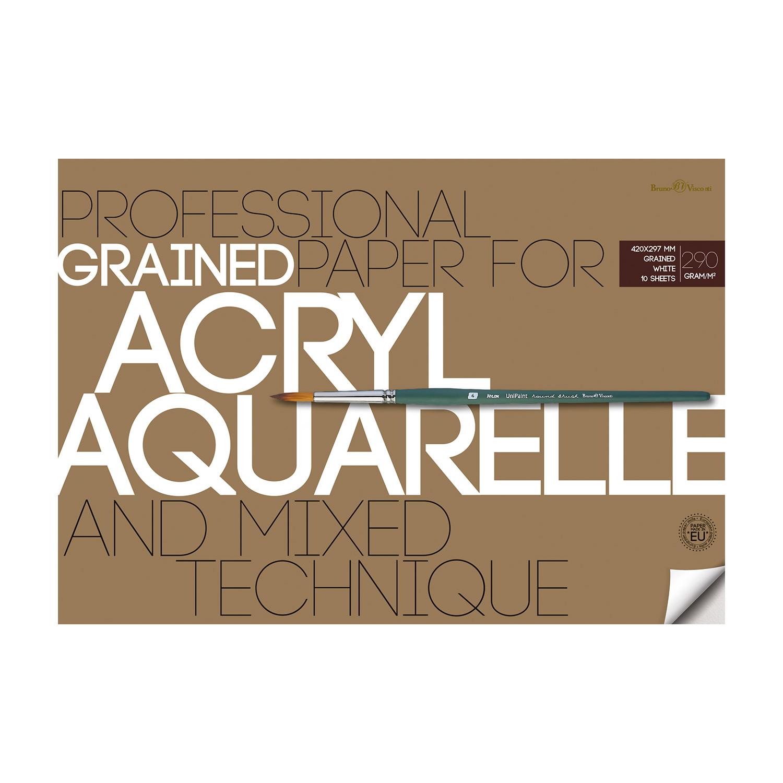 Альбом д/акварели А3 10л Acryl&Aquarelle 290гр. (и акрила)
