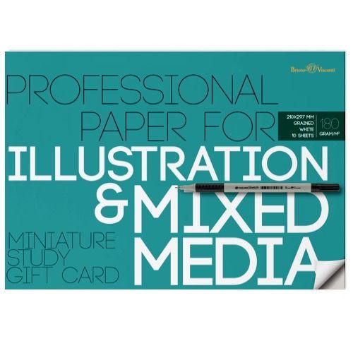 Бумага д/иллюстрации А4 10л Illustration 180гр.