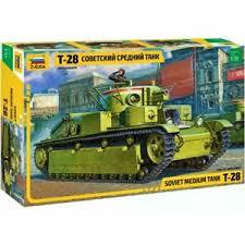 """Сборная модель Советский средний танк """"Т-28"""""""