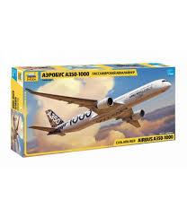 Сборная модель Пассажирский авиалайнер Аэробус А-350-1000