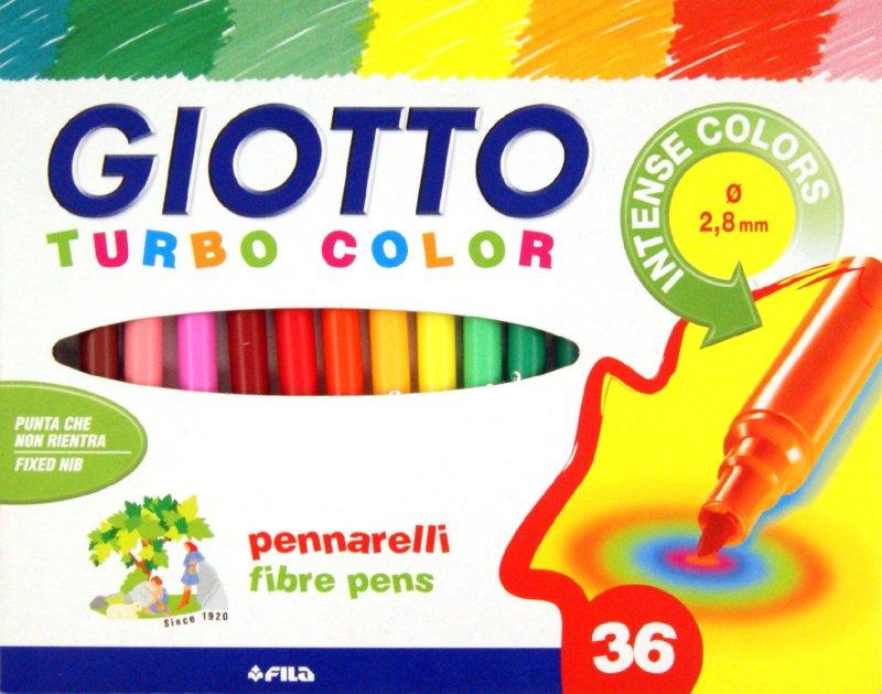 Фломастеры 36 цв Fila Giotto Turbo Color к/к