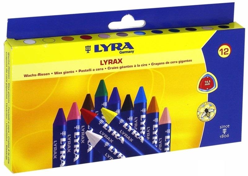 Мелки восковые 12цв Lyra Lyrax к/к