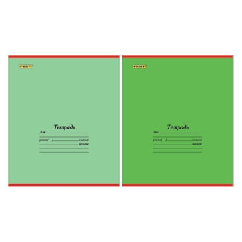 Тетрадь 12л клетка Proff Одноцветная обложка(зеленая)