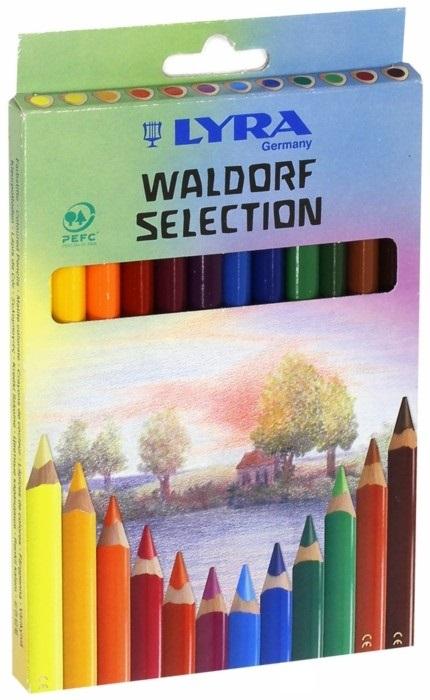 Карандаши цветные 12 цв Lyra Waldorf Selection (толстые)