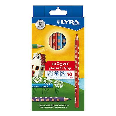 Карандаши цветные 10 цв Lyra Groove (эргономич. корпус)