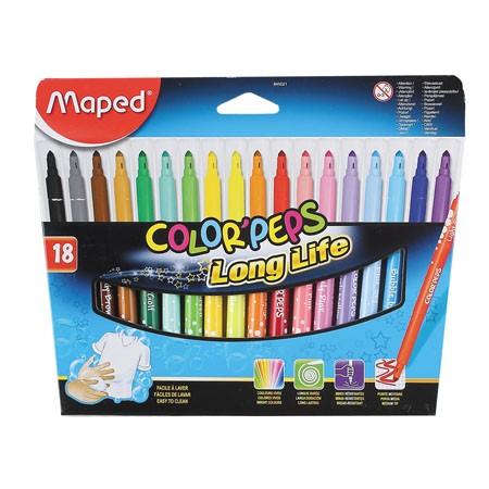Фломастеры 18 цв Maped Color Peps
