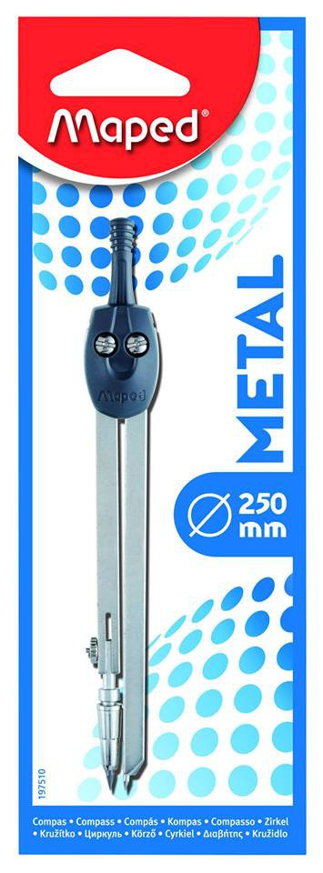 Готовальня 1пр Maped Metal метал с грифелем 2мм