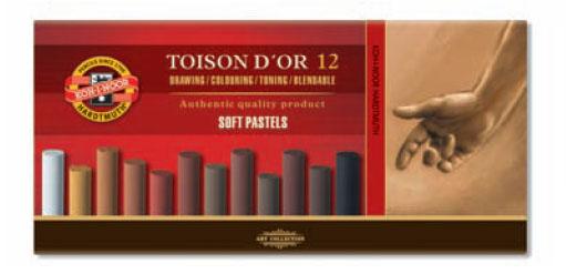 Пастель сухая 12цв K-I-N Toison D'or мягкая 12 оттенков серого