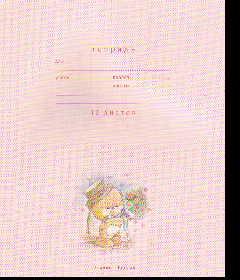 Тетрадь 12л линейка Мишки на розовом