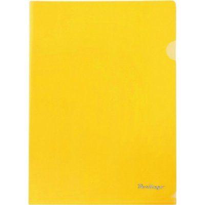 Папка-уголок 1 отд Berlingo желтая 150мкр