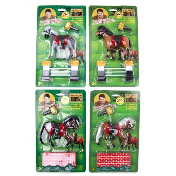 Лошадь 10 см (флокиров. покрытие)