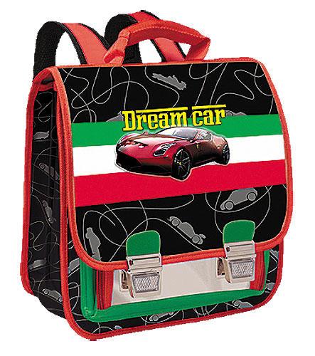 Ранец Limpopo Premium AutoConcept полуортопед черный с красным