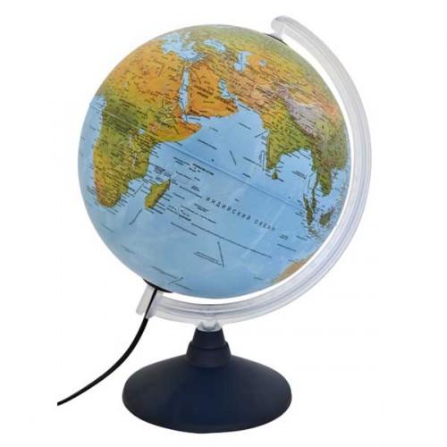 Глобус d-30 полит/физический с подсветкой