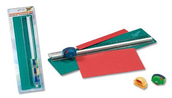 Творч Резак для бумаги с 3-мя смен. насадками + подложка