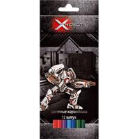 Карандаши цветные 12 цв Proff X-Robots к/к