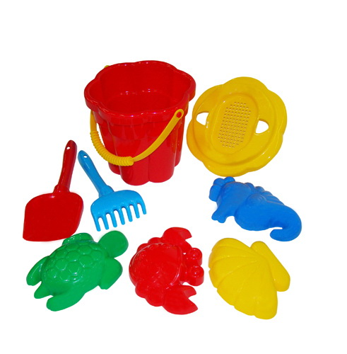 Песочница набор № 307 (ведро, лопатка, грабельки, формочки)