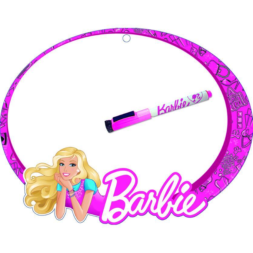 Доска маркерная детская А4 Barbie + маркер (фигурная)