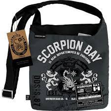 Сумка молодежная Scorpion Bay на ремне мал. черно-серая