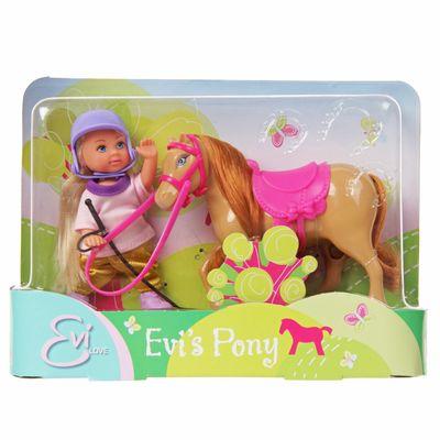 Кукла Еви с пони 12см