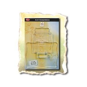 Творч Пресс для штампов акриловый 3шт/уп (13*16см, 10*10см, 7*7см)
