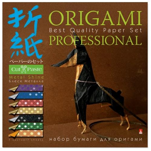 Творч Бумага д/оригами 20*20 7л Блеск металла