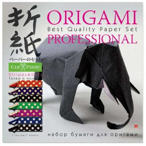 Бумага для оригами 20*20 7л Точки и полосы