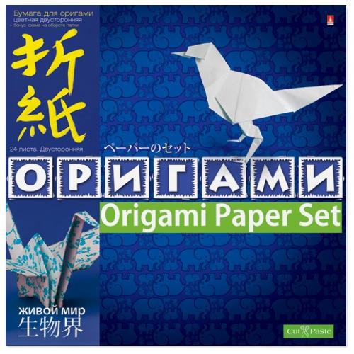 Творч Бумага д/оригами А4 24л Живой мир