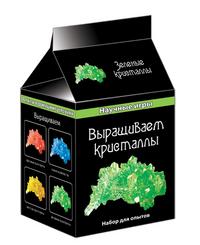 Набор для экспериментов Выращиваем кристаллы зеленые