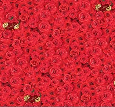Бумага упак. глянц 1*70 Алые розы