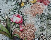 Праз Бумага упак. в рулоне 672х990 Цветы на белом