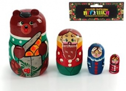 Матрешка Маша и медведь (4 персонажа)