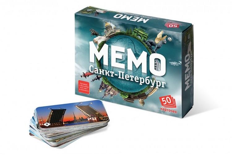 Игра Настольная Мемо Санкт-Петербург 50 карточек