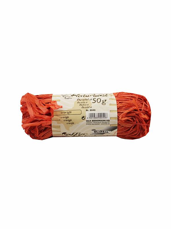 Творч Рафия натуральная оранжевая 50гр