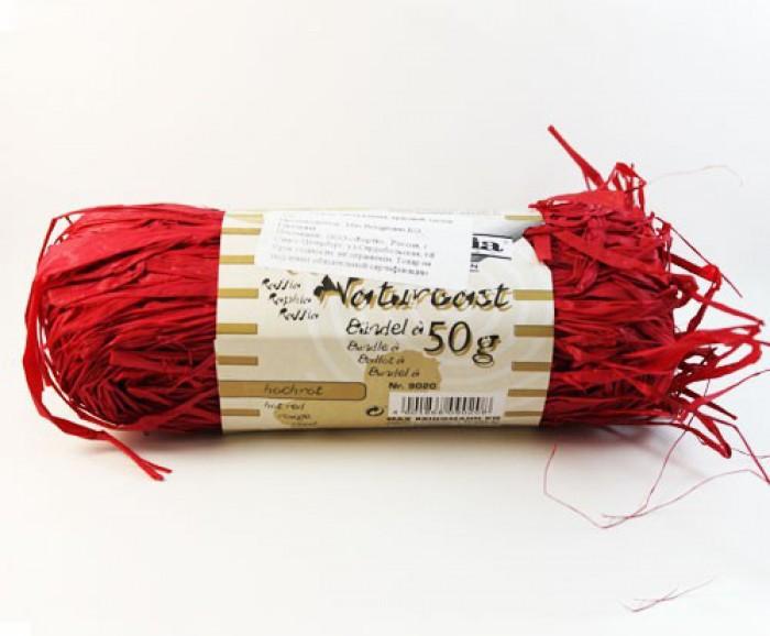 Творч Рафия натуральная красная 50гр