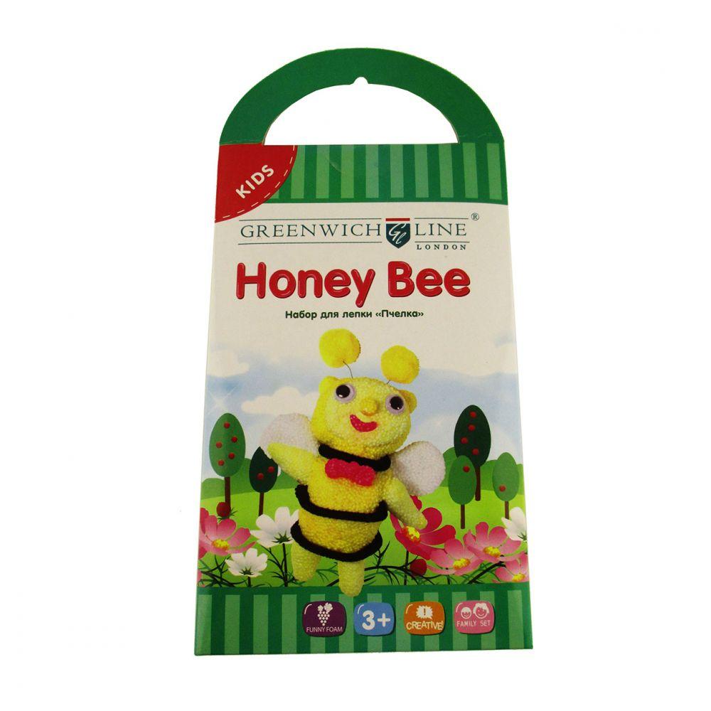 Творч Пластилин шариковый 3цв Пчелка